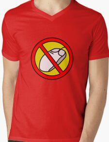 NO COMPUTER MOUSE TRAFFIC SIGN  Mens V-Neck T-Shirt