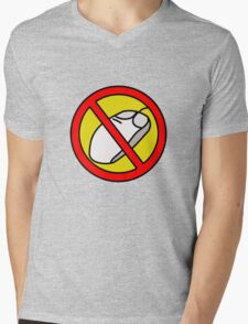 NO COMPUTER MOUSE TRAFFIC SIGN  Mens V-Neck T-Shirt