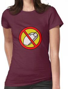 NO COMPUTER MOUSE TRAFFIC SIGN  Womens Fitted T-Shirt