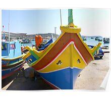 Maltese Fishing Boat Poster