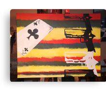 guns and aces Canvas Print
