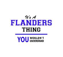 It's a FLANDERS thing, you wouldn't understand !! by yourname
