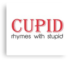 Cupid Rhymes with Stupid Canvas Print