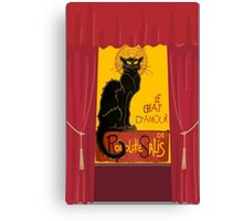 Le Chat D'Amour with Theatrical Curtain Border Canvas Print