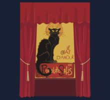 Le Chat D'Amour with Theatrical Curtain Border One Piece - Long Sleeve