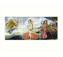 Venus on a Flytrap [full triptych] Art Print