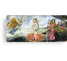 Venus on a Flytrap [full triptych] Canvas Print