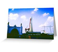 Moscow 1960s II Greeting Card