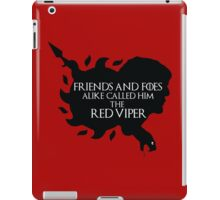 Oberyn Martell- Red Viper (Black) iPad Case/Skin