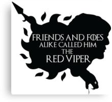 Oberyn Martell- Red Viper (Black) Canvas Print