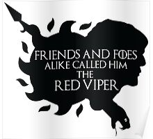 Oberyn Martell- Red Viper (Black) Poster