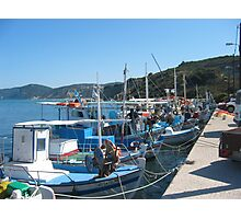 Boats In The Harbour Photographic Print