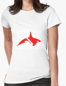 Orca Diver Womens Fitted T-Shirt