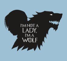 Arya Stark- Im a Wolf (Black) Kids Clothes