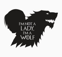 Arya Stark- Im a Wolf (Black) Kids Clothes