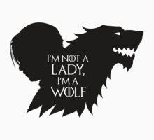 Arya Stark- Im a Wolf (Black) by mersanto