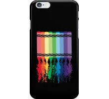 Spattered Crayons  iPhone Case/Skin