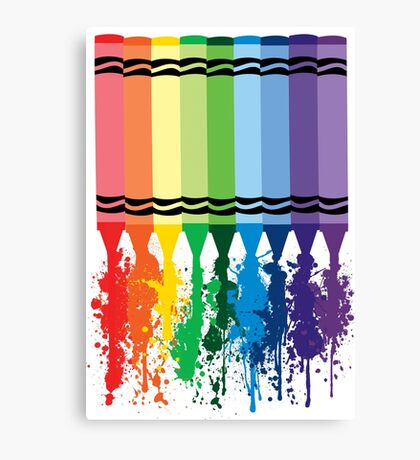Spattered Crayons  Canvas Print