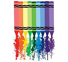 Spattered Crayons  Photographic Print
