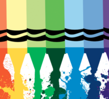 Spattered Crayons  Sticker