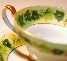 Green Ivy Tea Cup by Brent  Danz