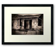 Shipping & Receiving Framed Print