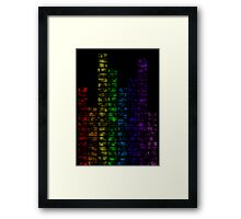 Coloured vibe Framed Print