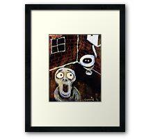 Toilet Monster Framed Print