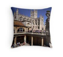 Roman Bath Throw Pillow
