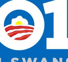 Ron Swanson 2016 sticker mug campaign poster Sticker
