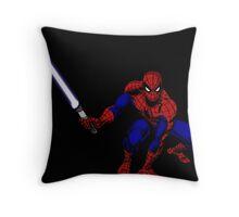 Spider-Man: Jedi Master Throw Pillow