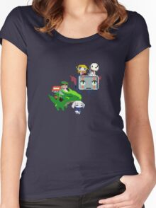 Cave Story - Fly Away Women's Fitted Scoop T-Shirt