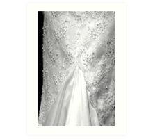 Wedding Dress Beads and Lace Art Print