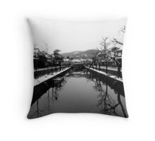 Kurashiki Bikan in Winter Throw Pillow