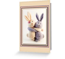 Hugging Bunnies Greeting Card