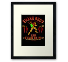 Planet Zebes Fighter Framed Print