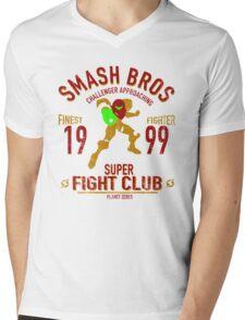 Planet Zebes Fighter Mens V-Neck T-Shirt
