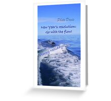 Go with the flow holiday card - dolphin Greeting Card