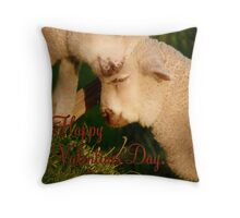 Happy Valentines Day - Lambs - NZ Throw Pillow