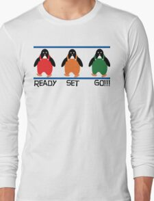 penguin races Long Sleeve T-Shirt