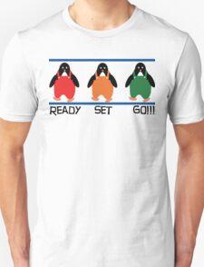 penguin races Unisex T-Shirt