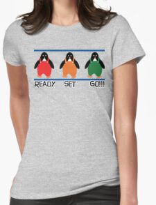 penguin races Womens Fitted T-Shirt
