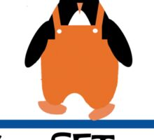 penguin races Sticker