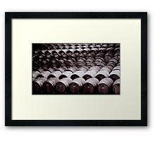 Barrels Of Framed Print