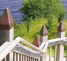 Outdoor Stairway at Urquart Castle by lezvee