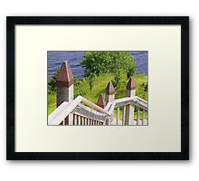 Outdoor Stairway at Urquart Castle Framed Print