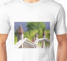 Outdoor Stairway at Urquart Castle Unisex T-Shirt