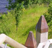 Outdoor Stairway at Urquart Castle Sticker
