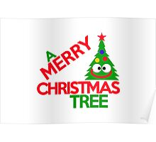 A Merry Christmas tree Poster