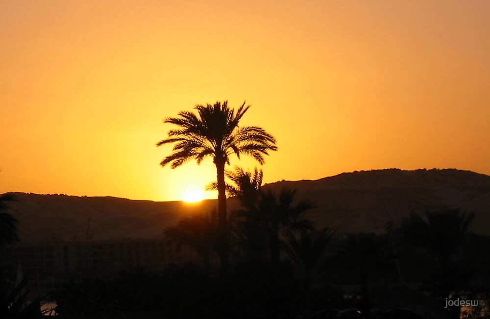 Sunset over Aswan by Jodi Webb